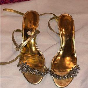 Nine West gold heels! Size 7.5